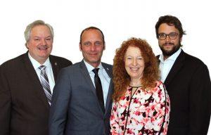Députés de lanaudière. Dans l'ordre habituel, Luc Thériault, Michel Boudrias, Monique Pauzé, Gabriel Saint-Marie